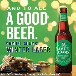 And to All a Good Beer. Samuel Adams Winter Lager.