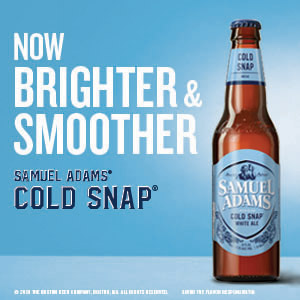 Now Brighter and Smoother. Samuel Adams Cold Snap.